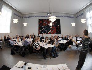 Mentor/mentee-spil på KU under ledelse af Kirsten M. Poulsen. Foto:  Henrik Petit