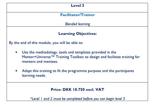 Level 3 programme manager