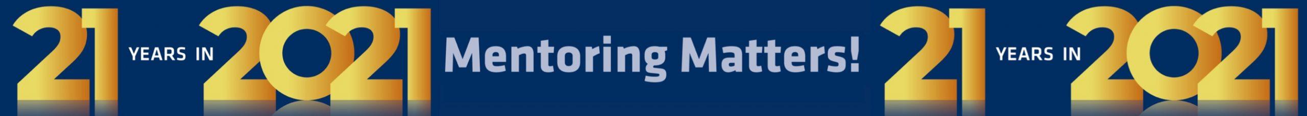 KMP+ Mentoring 21 years banner
