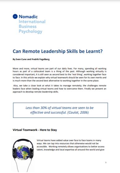 remote leadership forside